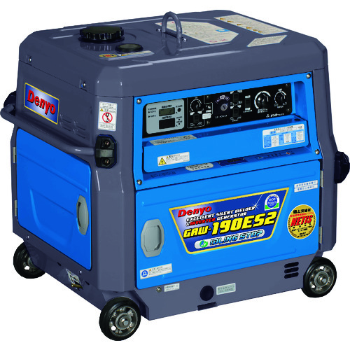 デンヨー GAW-190ES2 エンジン溶接機超低騒音型兼インバータ発電機【smtb-k】【w3】20181004(カル0000)