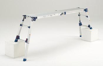 ピカコープレイション四脚アジャスト式足場台 DWV-S120A(可搬式作業台) 【smtb-k】【w3】