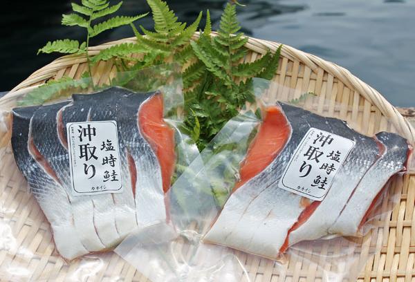 ご飯のおともや お弁当のおかず おにぎりの具などには欠かせない 時鮭 在庫あり 中辛塩でそのまま焼くだけでお召し上がりいただけます 天然の脂ののりと旨みがたまらない 5切入り 同梱可能 格安店 販売 通販 北洋沖獲り時鮭