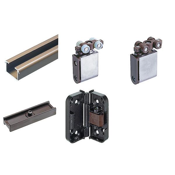 標準 UDK-500 [アトム] 間仕切 上吊式・下荷重兼用 No354-set4-360 30kg以下/戸1組 戸厚:30mm以上 折戸1組幅:900mm以下 ※折戸4組用
