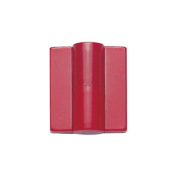 丁番 B9505-50型 【LAMP】 B9505-50R-33-10 右用 色:レッド サイズ:54×49 耐荷重40kgf/2ヶ 【箱売り(10個入)】