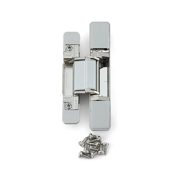 三次元調整機能付隠し丁番 【LAMP】 HES3D-V135LGR-6 ニッケルめっき 扉厚30mm以上 【箱売り(6個入)】