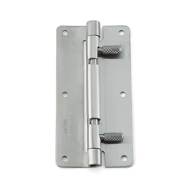 ワンタッチリリースヒンジ 【LAMP】 HG-OTA100-30 穴あり、左右兼用 ステンサテン仕上 サイズ:100×50 耐荷重7kgf/2ヶ 【箱売り(30個入)】