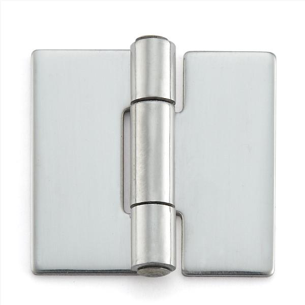ステンレス鋼製平丁番 【LAMP】 KHA-30CN-200 取付穴なし 研磨 サイズ:30×32 耐荷重6kgf/2ヶ 【箱売り(200個入)】
