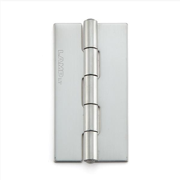 ステンレス鋼製平丁番 【LAMP】 KHA-60CN-100 取付穴なし 研磨 サイズ:60×32 耐荷重11kgf/2ヶ 【箱売り(100個入)】