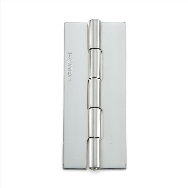 ステンレス鋼製平丁番 【LAMP】 KHA-75CN-50 取付穴なし 研磨 サイズ:75×32 耐荷重14kgf/2ヶ 【箱売り(50個入)】