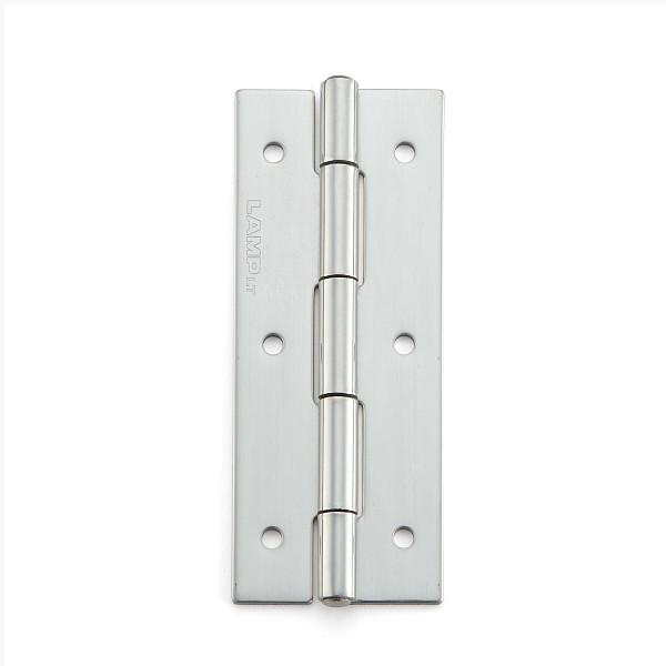 ステンレス鋼製平丁番 【LAMP】 KHA-80C-50 取付穴あり 研磨 サイズ:80×32 耐荷重15kgf/2ヶ 【箱売り(50個入)】