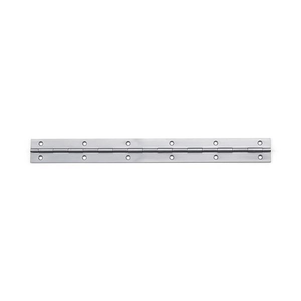 ステンレス鋼製 2枚合長丁番 【LAMP】 LS-240-20 (SUS430) ヘアライン サイズ:240×24.5 【箱売り(20個入)】