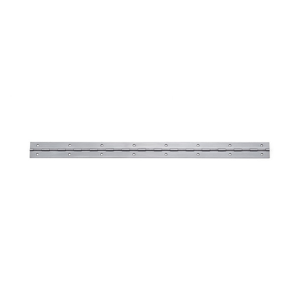 ステンレス鋼製 2枚合長丁番 【LAMP】 LS-450-20 (SUS430) ヘアライン サイズ:450×30 【箱売り(20個入)】