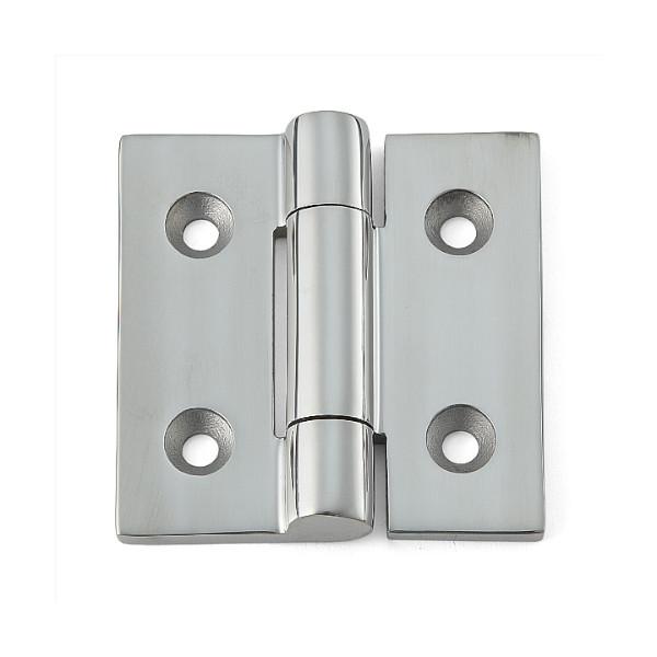 ステンレス鋼製重量用平丁番 【LAMP】 LSF-65-20 鏡面バフ研磨 サイズ:65×65 耐荷重36kgf/2ヶ 【箱売り(20個入)】