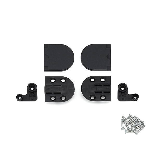 ダンパーヒンジ 【LAMP】 HG-JHM16-50BL-10 ブラック [トルク34.7~51kgf・cm/1セット] 【箱売り(10セット入)】