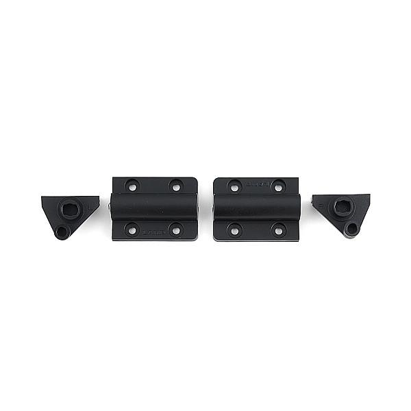 自開式ダンパーヒンジ 裏面付 【LAMP】 HG-JHS9-U-BL-30 ブラック [トルク0.28~0.44kgf・cm/1セット] 【箱売り(30セット入)】