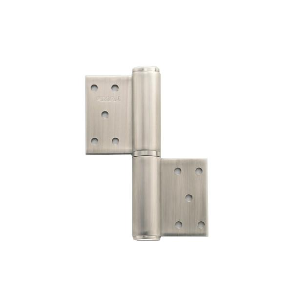 オールステンレス鋼製重量用旗丁番 【LAMP】 HG-LSW-204L-6 左用耐荷重:222kgf/2ヶ 【箱売り(6個入)】