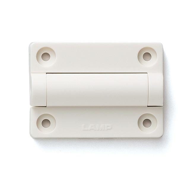 バラエティーモーションヒンジ 【LAMP】 HG-VH8-T15-WT-80 トルク内臓 ホワイト [トルク1.53kgf・cm/1ヶ] 【箱売り(80個入)】