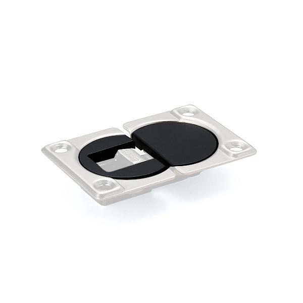 【カバーセット】 【LAMP】 SDH-PC-BL-100 ブラック (ソケット+マウンティングプレート) 【箱売り(100セット入)】