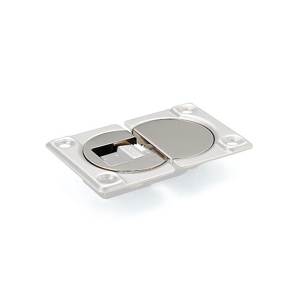 【カバーセット】 【LAMP】 SDH-PC-NI-100 ニッケルめっき (ソケット+マウンティングプレート) 【箱売り(100セット入)】
