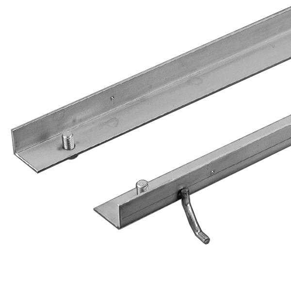 ステンレス製受枠 カネソウ L-50ASUS 54×58×4mm 定尺長さ2000mm 適合グレーチング:SXGL-S-13550,SMGL-S-13550 左右1セット売り