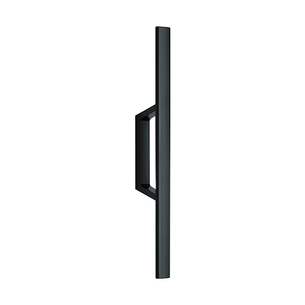 型にはまらない意匠と無垢独特の重量感  マシナリーハンドル TBH型 スガツネ LAMP TBH-600BL 裏止めハンドル アルマイト処理/マットブラック