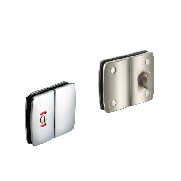 ガラスカマ錠ストライクボックス付 【LAMP】 CLS30-S 表示器付 サテン仕上 適応ガラス厚:8、10、12mm