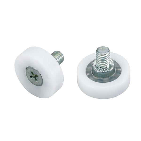 プラスチックベアリング 【LAMP】 DR-24-B4 外周フラットタイプ ねじ軸仕様 φ24×7 受注対応品