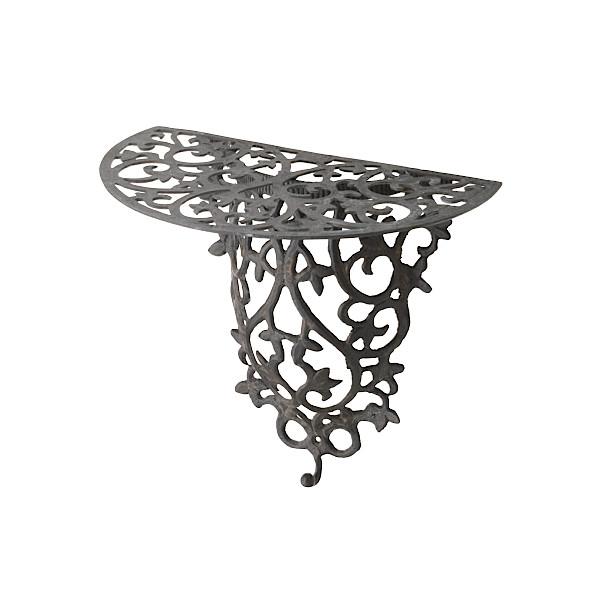 ヴィクトリアルシリーズ セール商品 アンティーク壁付けテーブル アウトレットセール 特集 MK mesp-036 アンティークブラック サイズ:L320×W300×H200 真鍮