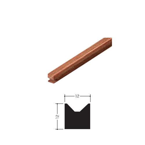 木製Vレール ウッドレール 【イーグル】 ハマクニ 12×12 1930mm 強化天然木 ナチュラル 【20本梱包売り】 4-048