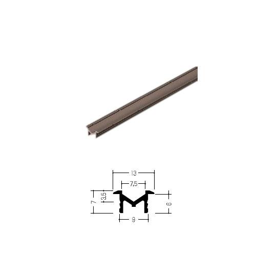 敷居の納まりがきれいになります セール 耳付Vレール イーグル ハマクニ EMV9065 428-054 ブロンズ アルミ 高品質新品 2000mm