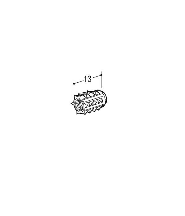 木下地 に打ち込んでください 鬼目ナット ロイヤル 完売 お得クーポン発行中 6N ユニクロめっき ≪10個単位での販売品≫