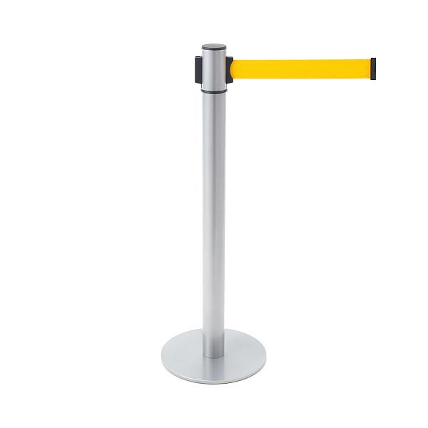 ベルトリールパーティション 【LAMP】 AP-BR111M(SL)YE 支柱・ベース:鋼シルバー塗装/ベルトカラー:イエロー ◇290-893-913