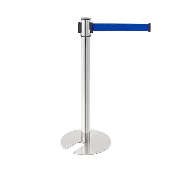 ベルトリールパーティション 【LAMP】 AP-BR281MC(MR)BU 支柱:ステン鏡面/ベース:ステンHL/ベルトカラー:ブルー ◇290-800-657