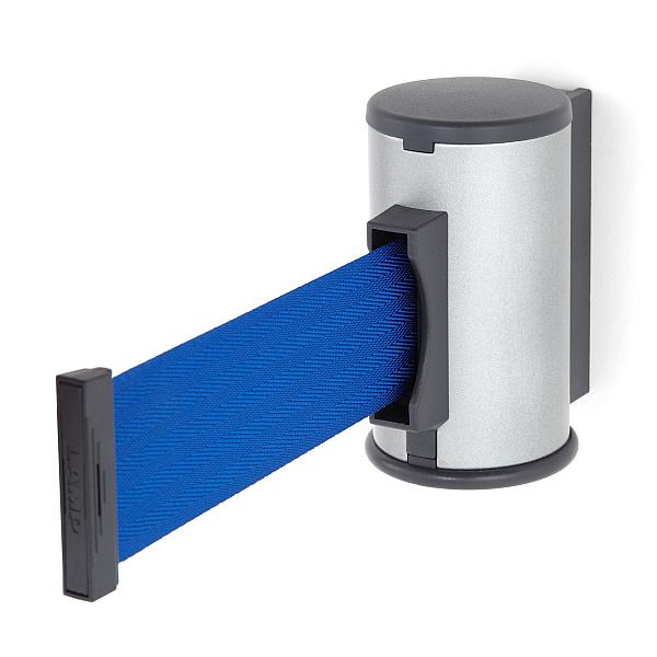 【エントリーでポイント10倍♪ 3/21 20:00~】壁面取付ベルトリールパーティション 【LAMP】 AP-BR351(SL)BU スリットパイプ:鋼シルバー塗装/ベルトカラー:ブルー ◇290-893-301