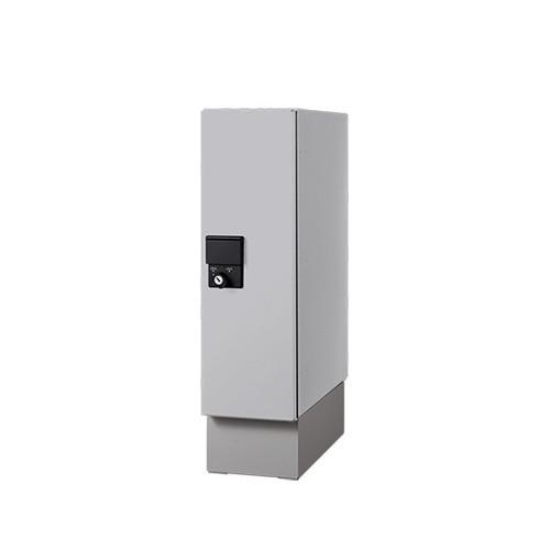 小型宅配ボックス スマート 前入前出/防滴タイプ 【nasta】 KS-TLU160-S500-L ライトグレー+幅木付 H600×W160×D400