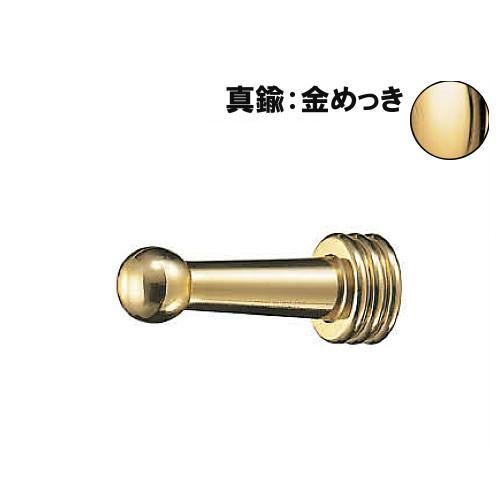 ロブフックB形 【白熊】 WB CB-36-GO サイズ:φ13(φ18)×D45 真鍮:金めっき 20個入/箱売品