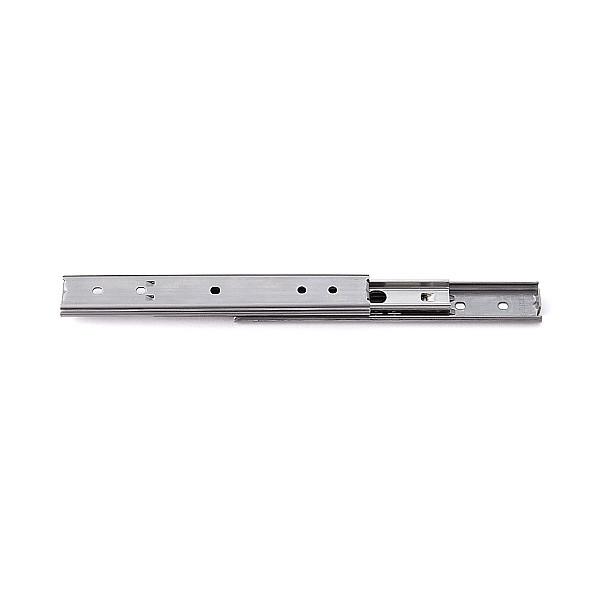 【エントリーでポイントさらに5倍】3段引 スライドレール 【LAMP】 SCR3-15S-100A (通し穴)Aタイプ (レール長さ 100mm)(厚み9.7×高さ15.5mm) 【50本/箱売り】
