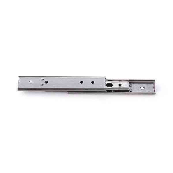 【エントリーでポイントさらに5倍】3段引 スライドレール 【LAMP】 SCR3-15S-80A (通し穴)Aタイプ (レール長さ 80mm)(厚み9.7×高さ15.5mm) 【50本/箱売り】