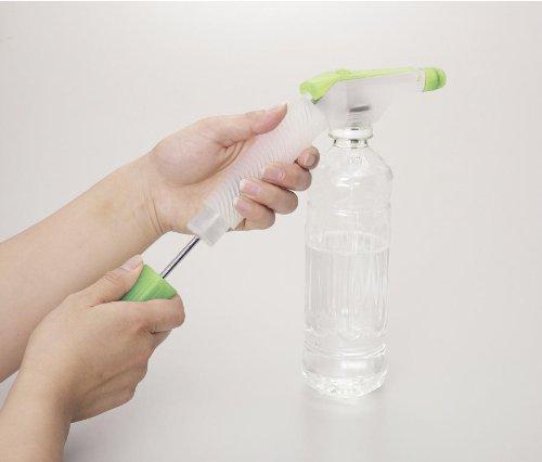 ペットボトルに装着し ポンプで加圧するだけでスプレーに大変身 メール便対応可能 ペットボトル専用加圧式スプレーノズル 訳あり品送料無料 パステルグリーン メーカー再生品 F6550-m