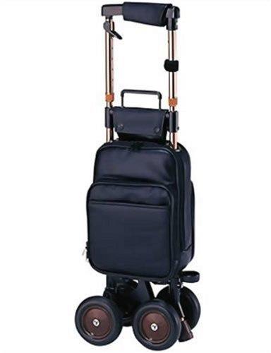 象印ベビー キャリーステッキ・ライト168 (黒) 本体重量:2.1kg 袋容量:9L キャリーシリーズ ショッピングカー