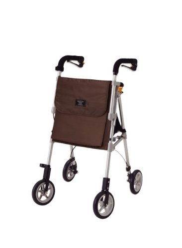 象印ベビー ヘルシーワン・ライト (ブラウン) 使用者体重:75kg コンパクト収納タイプ シルバーカー 日本製