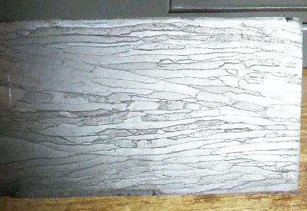 鋼材 炭素鋼ワイヤーダマスカス鋼4.2×57×300(D-2)