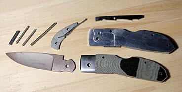 """フォールディング ナイフキット2""""ハンドスケルペルフォールディングブラック・リネン全長138mm刃長54mmブレイド材:ATS34"""