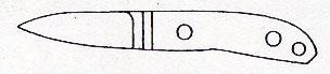 """ナイフキット 2""""ハンドスケルペルセミスキナー 全長145mm/刃長61mmATS-34/マイカルタ"""