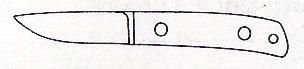 """ナイフキット 2-3/4""""ショートナイフ(ヒルトレス) 全長178mm/刃長72mmAUS-8/ココボロ"""