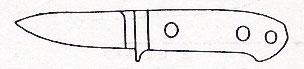 """ナイフキット 3""""セミ・スキナー 全長172mm/刃長75mmATS-34/マイカルタ"""