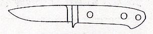 """ナイフキット 3-1/2""""フィールド&ストリーム全長192mm/刃長89mmATS-34/マイカルタ"""