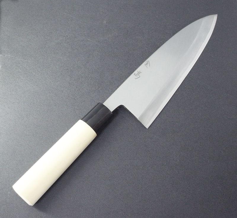 金高特製 出刃包丁 180ミリ (右利き用)