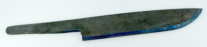 剣鉈用鋼材 (割込) 210mm