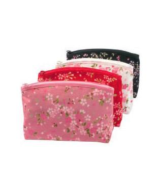日本礼物化妆袋日本制造的樱花SAKURA门(大)
