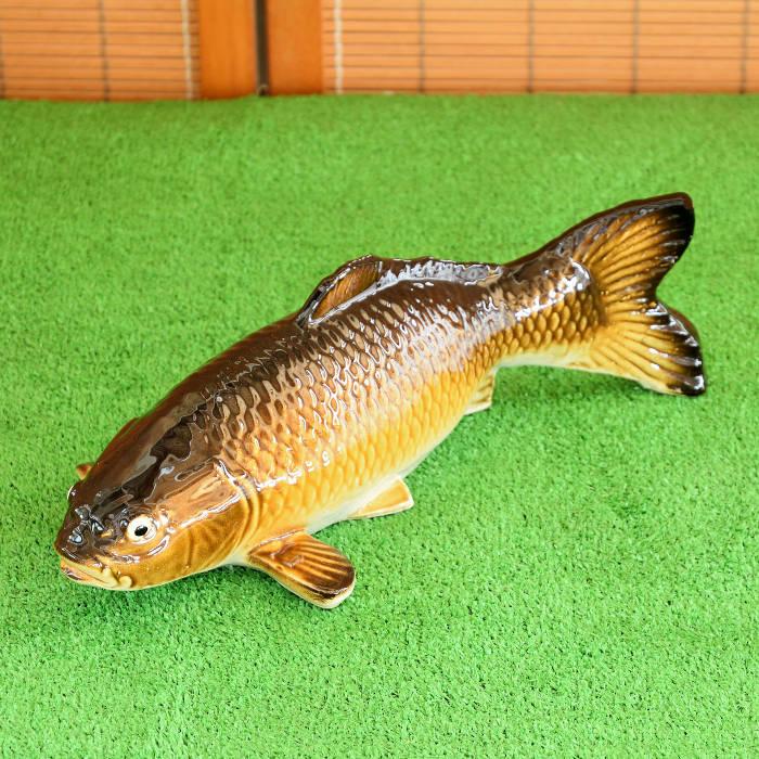 しがらき焼 陶器 鯉の置物 往復送料無料 信楽焼 鯉 大 コイ こい リアルな 庭園 やきもの エクステリア プレゼント 現品 インテリア 庭 焼き物 置物 ギフト