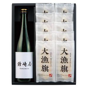 笹かまぼこ大漁旗×鐘崎屋特別純米酒ギフト