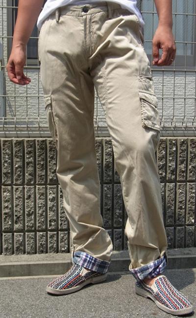 ダニエレ アレッサンドリーニ(DANIELE ALESSANDRINI)メンズ デザインカーゴパンツ5ポケットカラージーンズ コットンパンツ チノDANIELE ALESSANDRINI-P4623【ベージュ】送料無料
